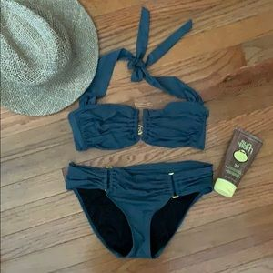 Victoria secret dark teal bikini